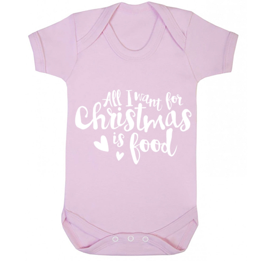 All I Want For Christmas Is Food Baby Vest K0144