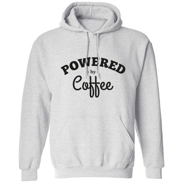 Powered By Coffee Unisex Hoodie K0153 - Illustrated Identity Ltd.