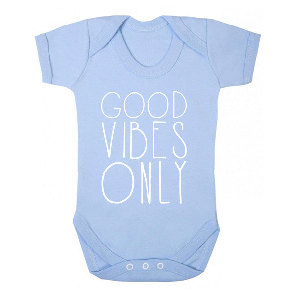 Good Vibes Only Baby Vest K0160 - Illustrated Identity Ltd.