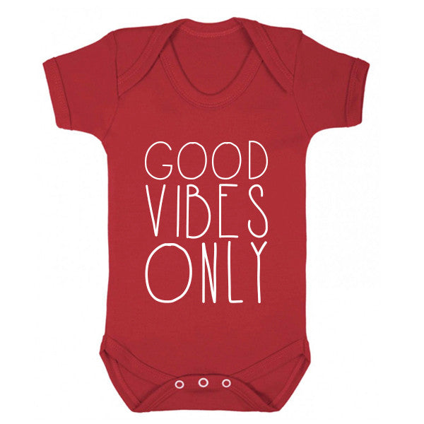 Good Vibes Only Baby Vest K0160