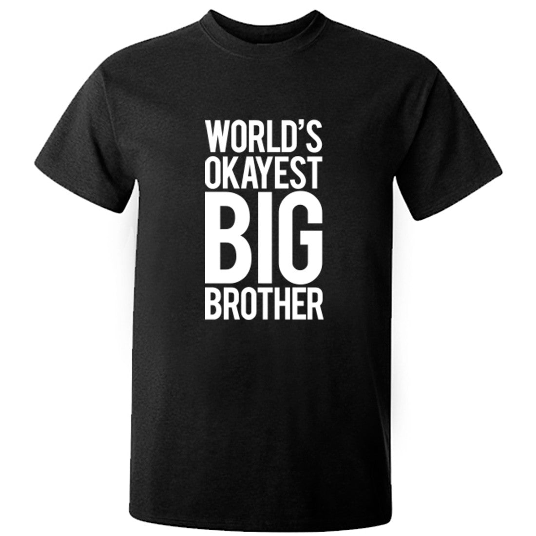 World's Okayest Big Brother unisex t-shirt K0242