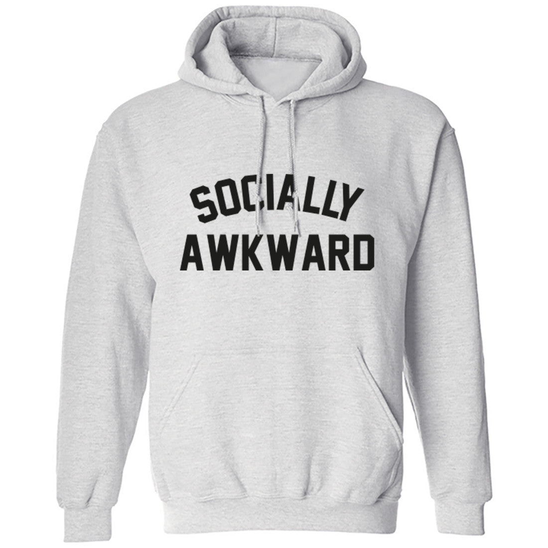 Socially Awkward Unisex Hoodie K0250 - Illustrated Identity Ltd.