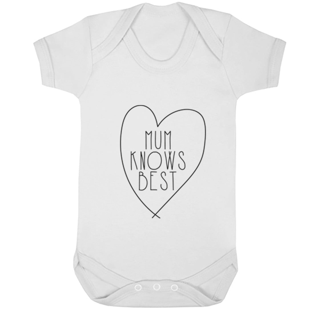 Mum Knows Best Baby Vest K0325