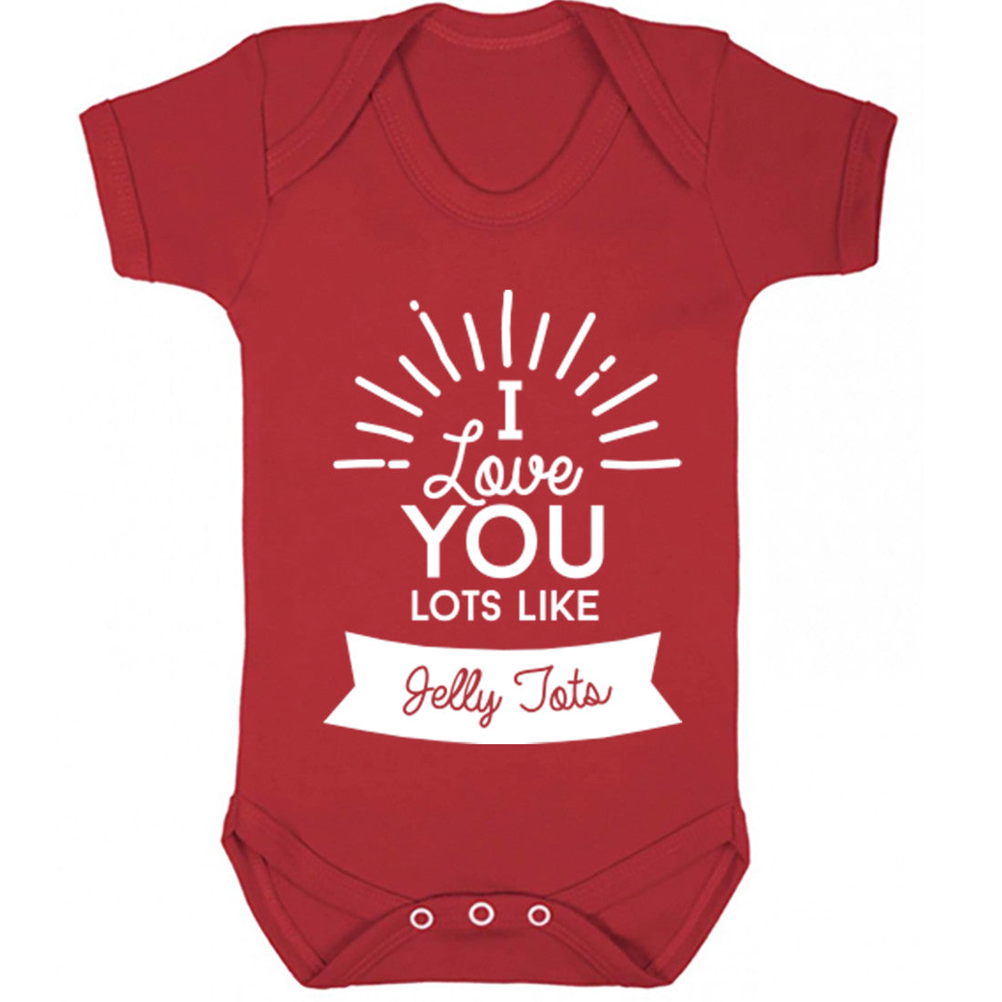 I Love You Lots Like Jelly Tots Baby Vest K0334 - Illustrated Identity Ltd.