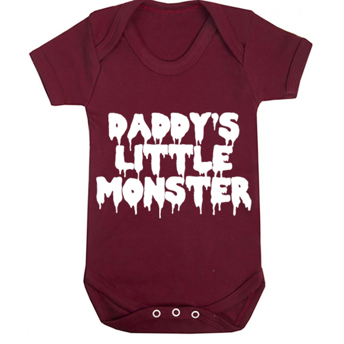 Daddy's Little Monster Baby Vest K0341