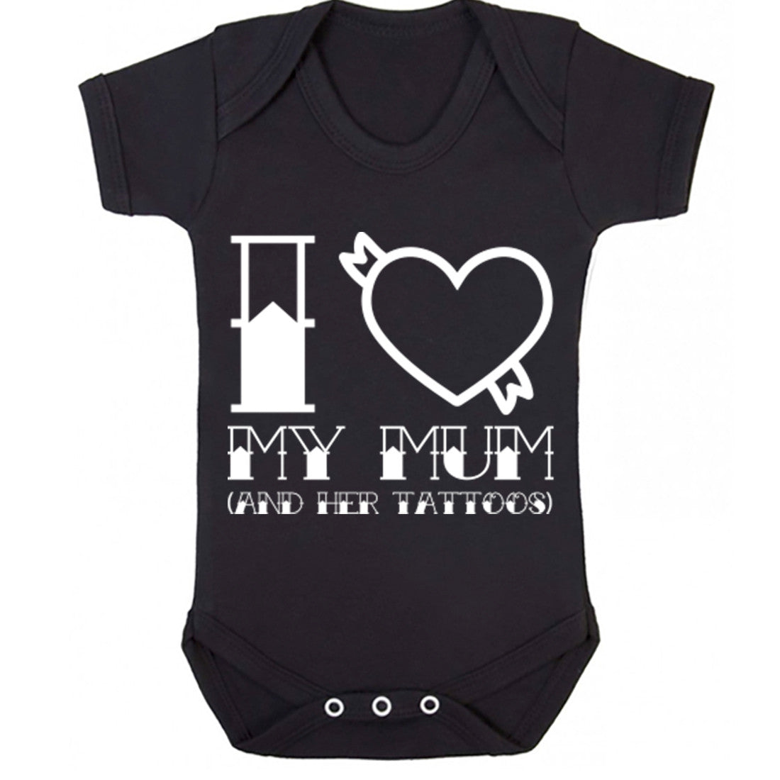 I Love Mum And Her Tattoos Baby Vest K0348