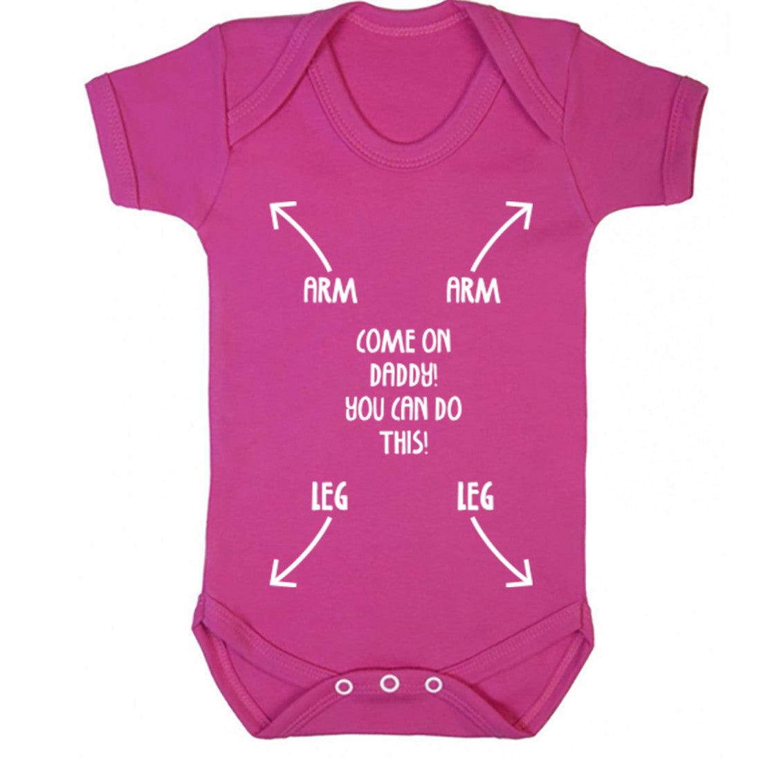 Come On Daddy You Can Do This Baby Vest K0368 - Illustrated Identity Ltd.
