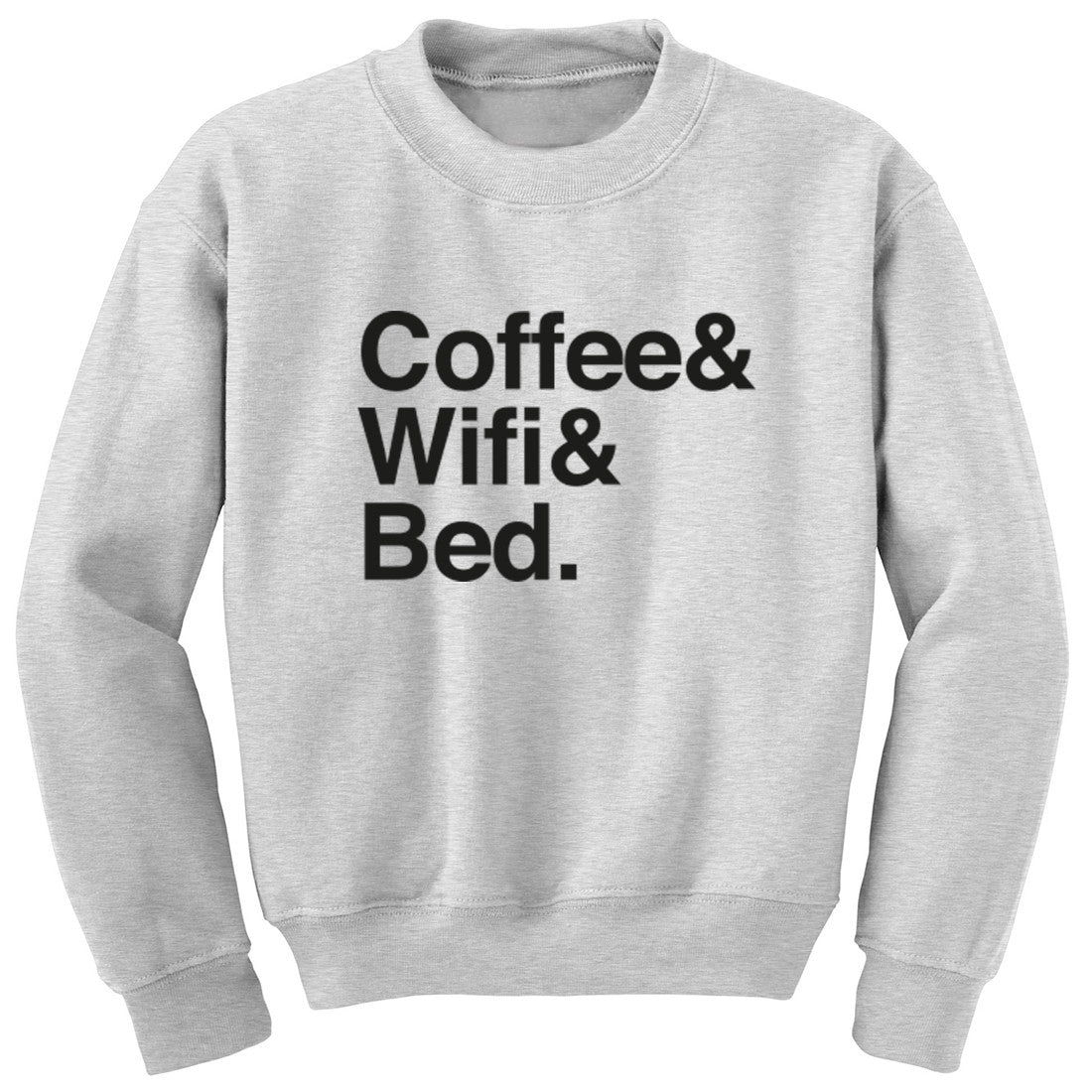 Coffee Wifi Bed Unisex Jumper K0391 - Illustrated Identity Ltd.