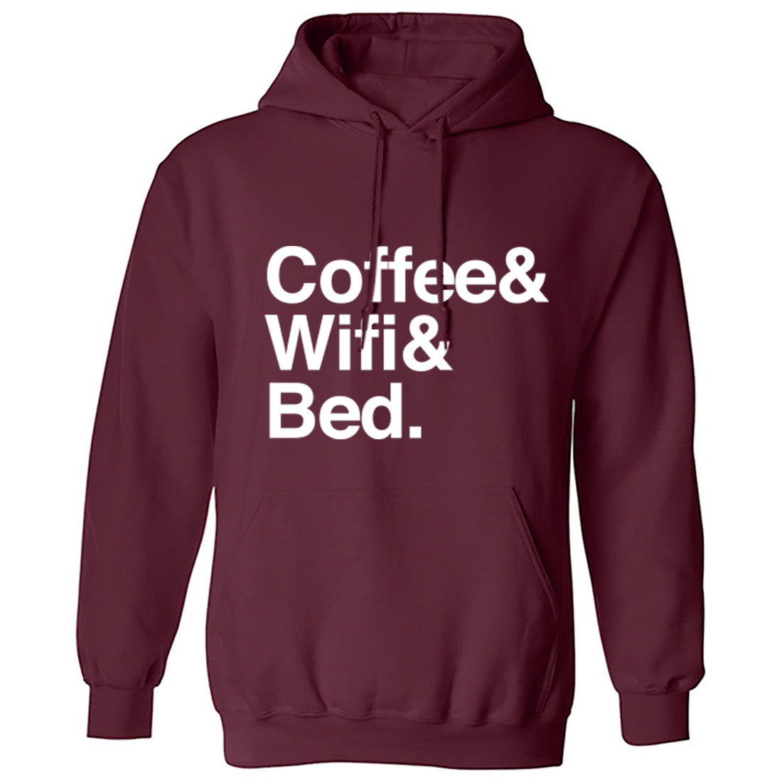 Coffee Wifi Bed Unisex Hoodie K0391 - Illustrated Identity Ltd.