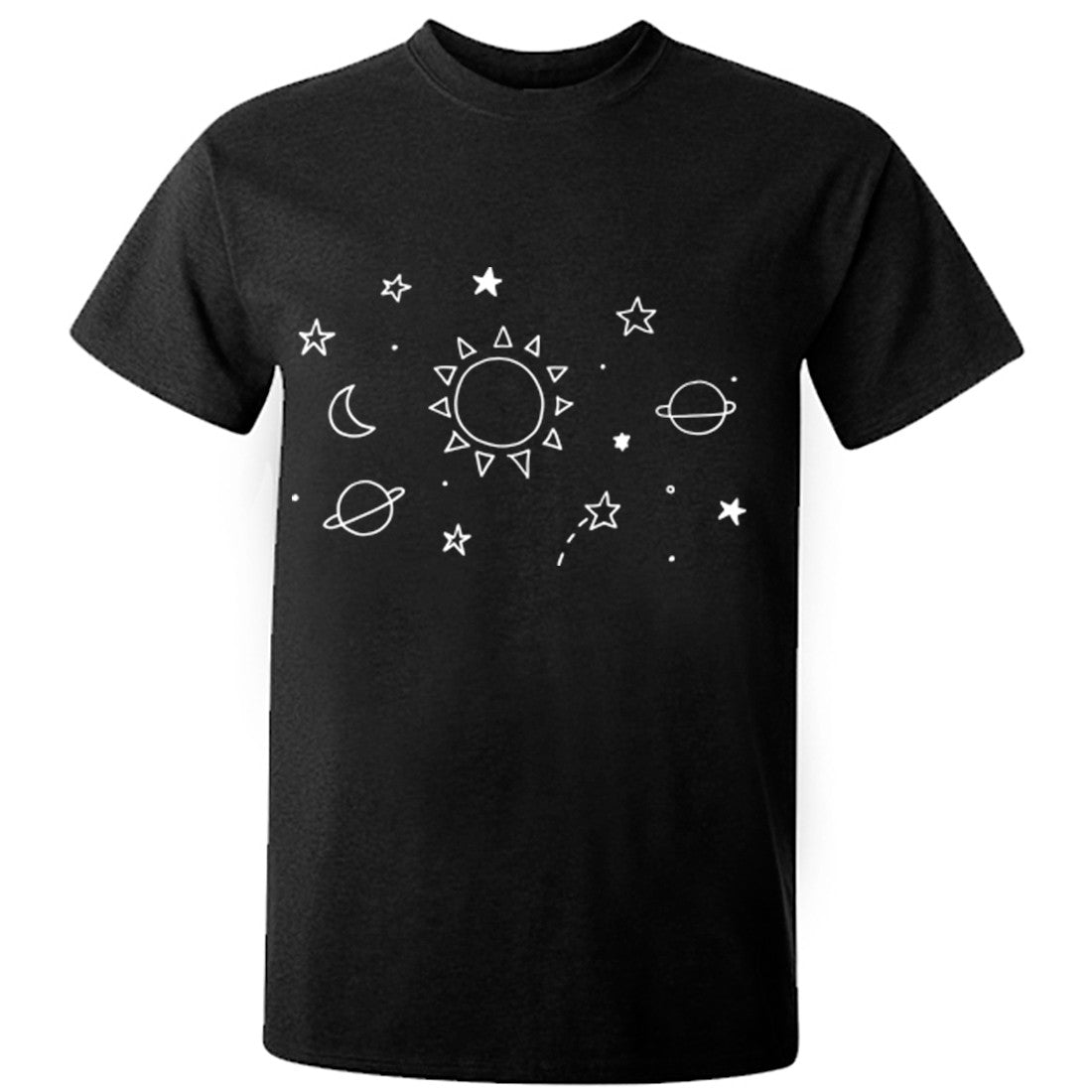 Space Illustration Unisex Fit T-Shirt K0392 - Illustrated Identity Ltd.