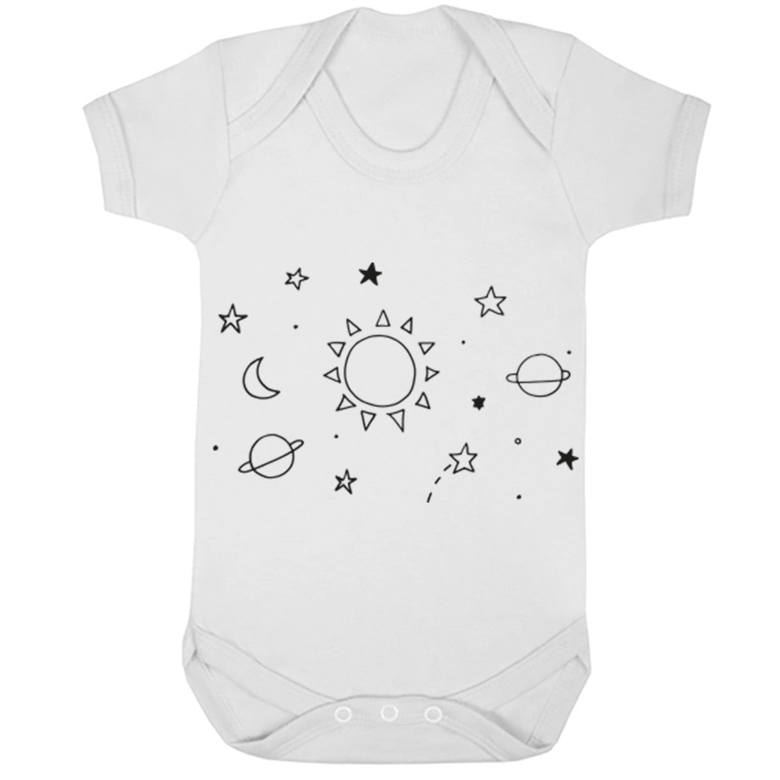 Space Illustration Baby Vest K0392