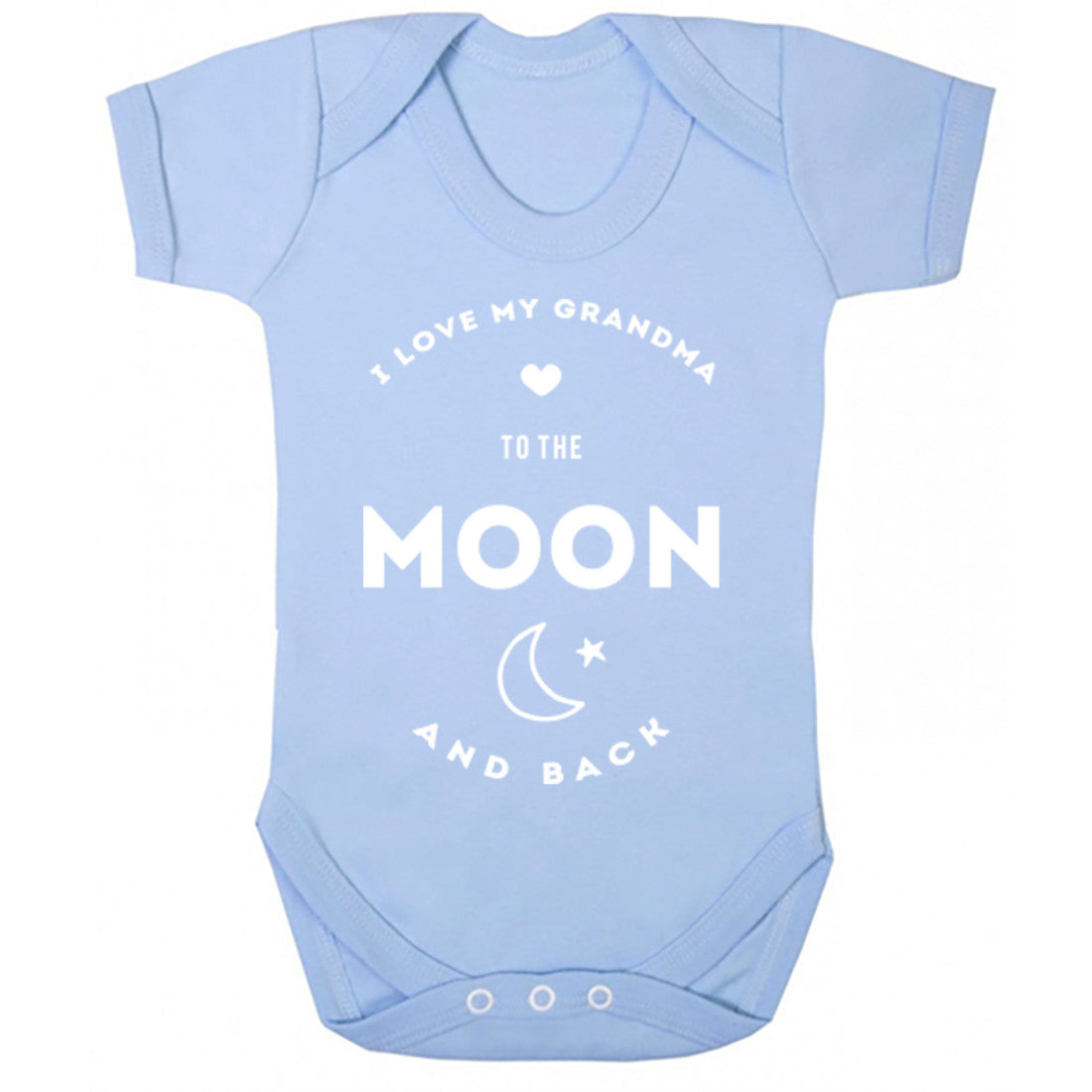 I Love My Grandma To The Moon And Back Baby Vest K0399 - Illustrated Identity Ltd.