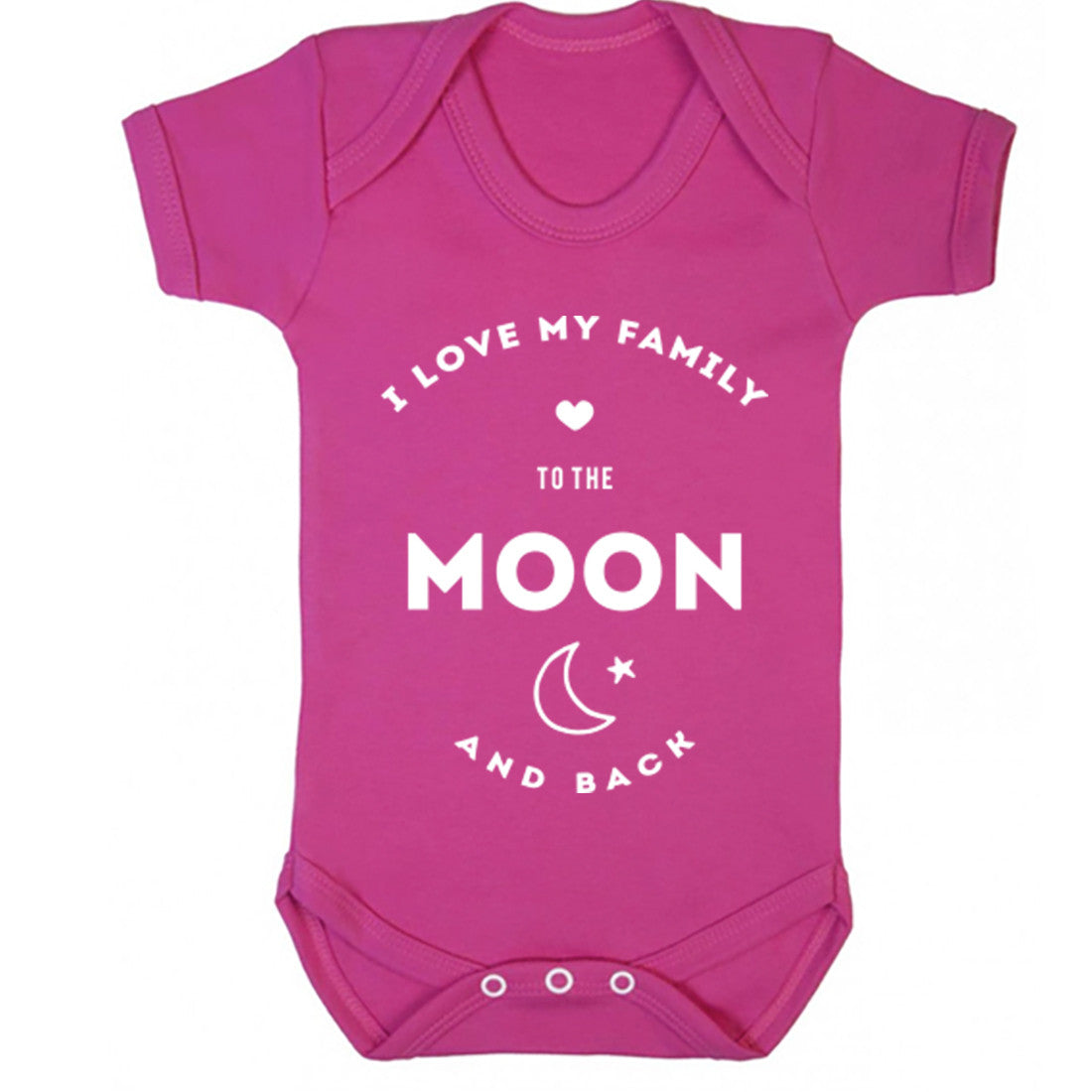 I Love My Family To The Moon And Back Baby Vest K0404 - Illustrated Identity Ltd.