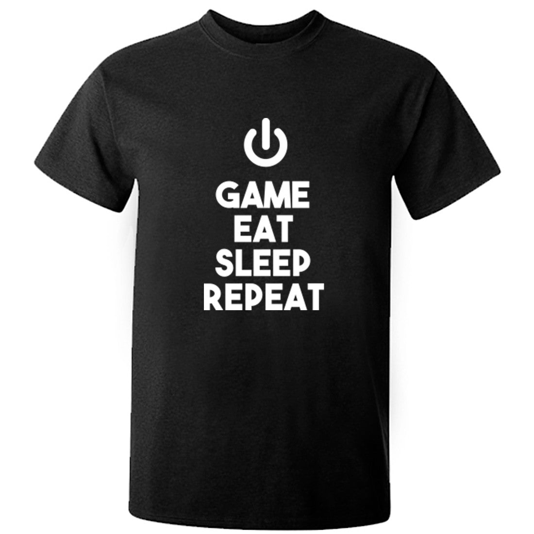 Game Eat Sleep Repeat Unisex Fit T-Shirt K0444 - Illustrated Identity Ltd.