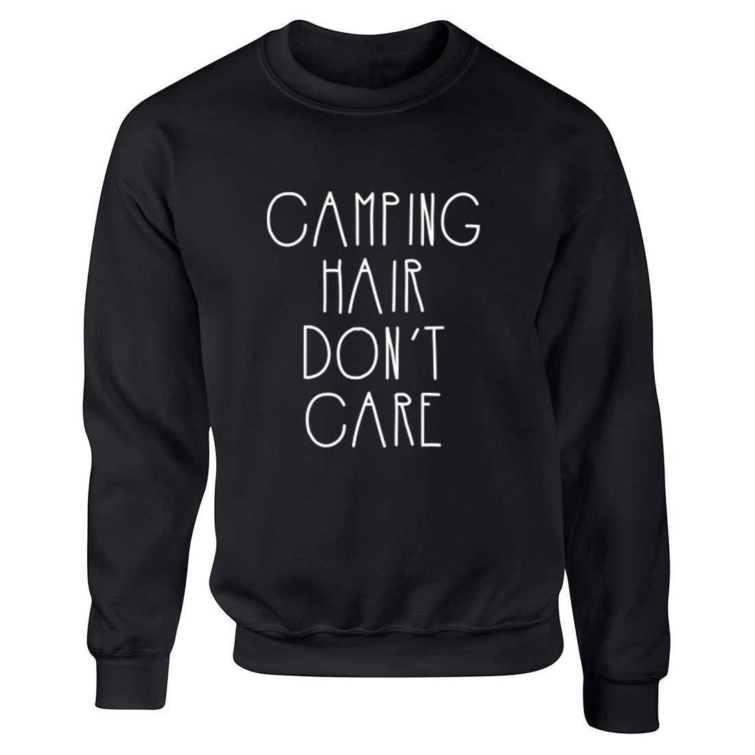 Camping Hair Don't Care Unisex Jumper K0462 - Illustrated Identity Ltd.