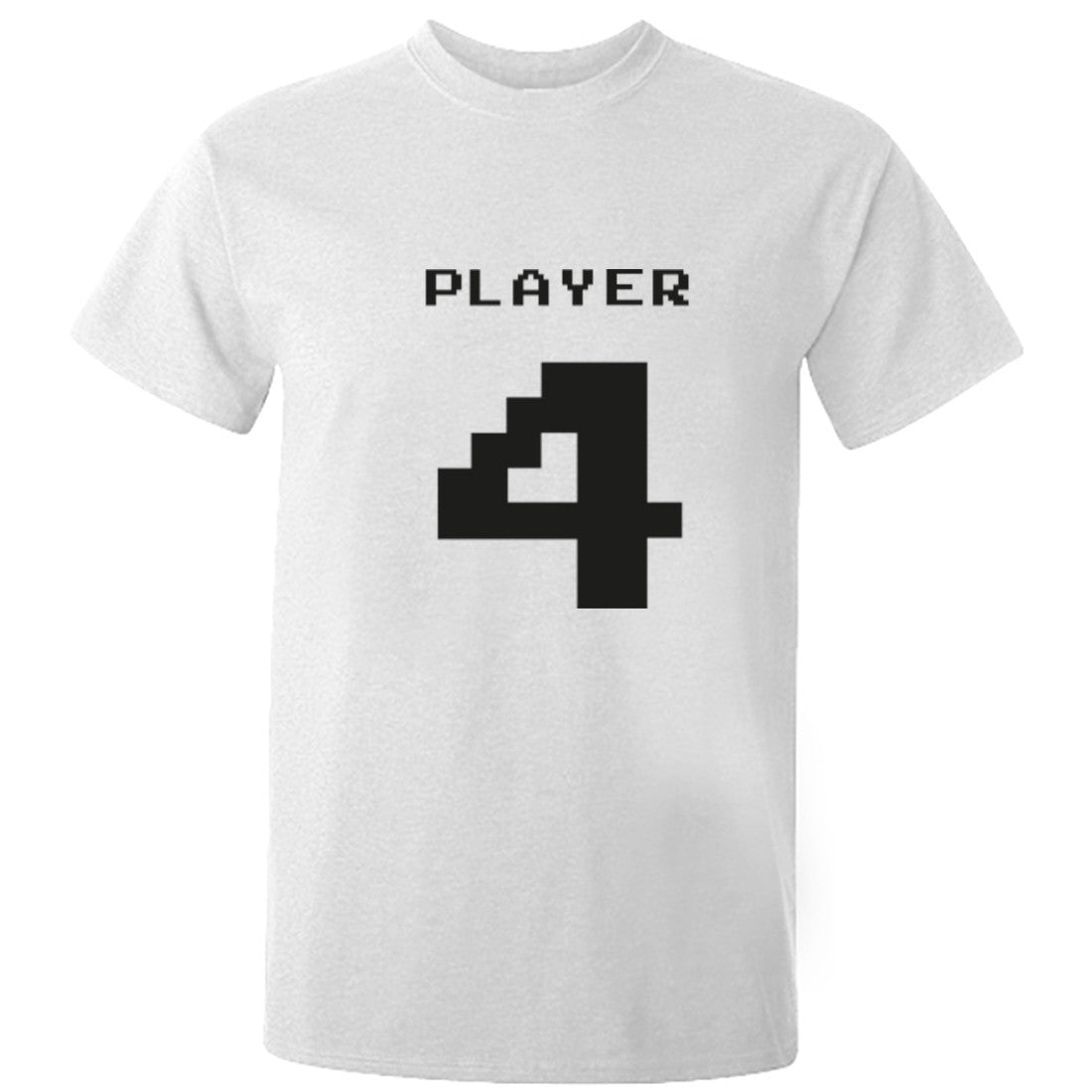 Player 4 Unisex Fit T-Shirt K0547 - Illustrated Identity Ltd.