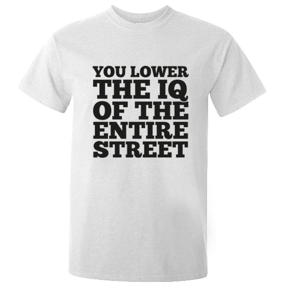 You Lower The IQ Of The Entire Street Unisex Fit T-Shirt K0566 - Illustrated Identity Ltd.