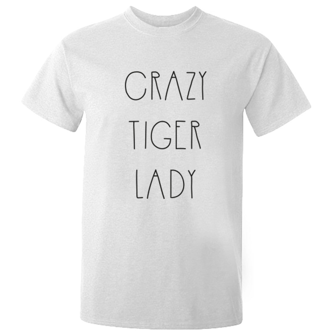 Crazy Tiger Lady Unisex Fit T-Shirt K0588 - Illustrated Identity Ltd.