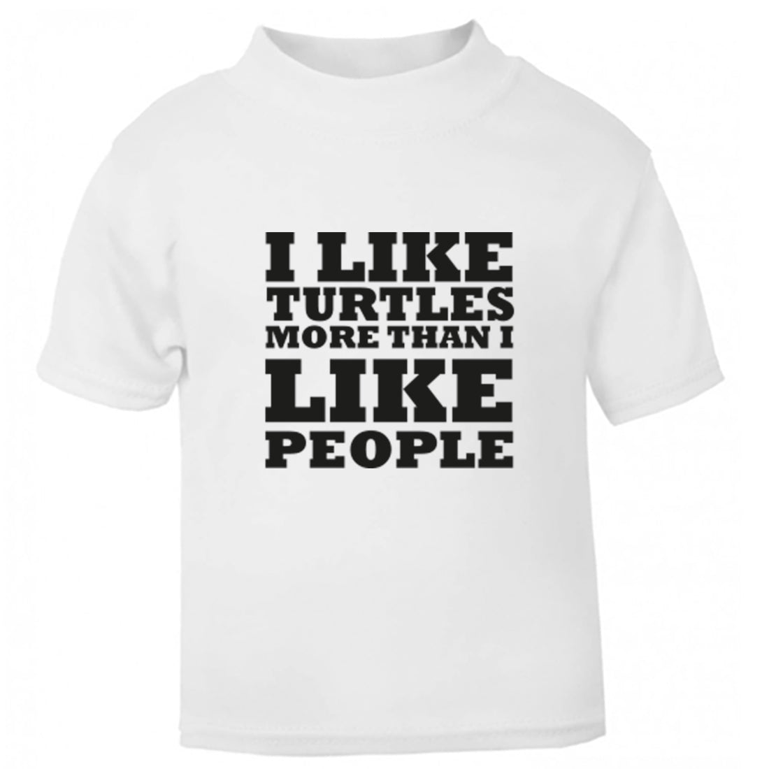 I Like Turtles More Than I Like People Childrens Ages 3/4-12/14 Unisex Fit T-Shirt K0650 - Illustrated Identity Ltd.