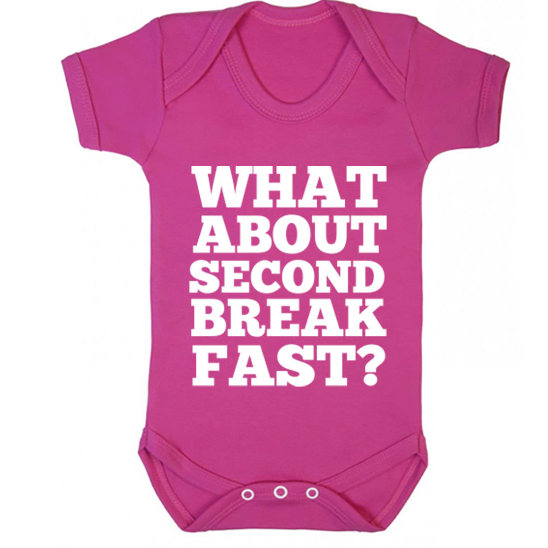 What About Second Breakfast? Baby Vest K0693 - Illustrated Identity Ltd.