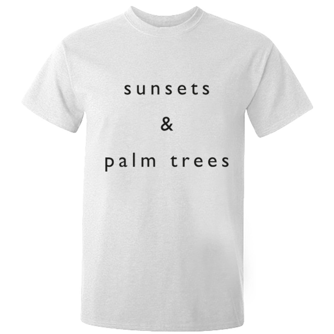 Sunsets & Palm Trees Unisex Fit T-Shirt K0768 - Illustrated Identity Ltd.