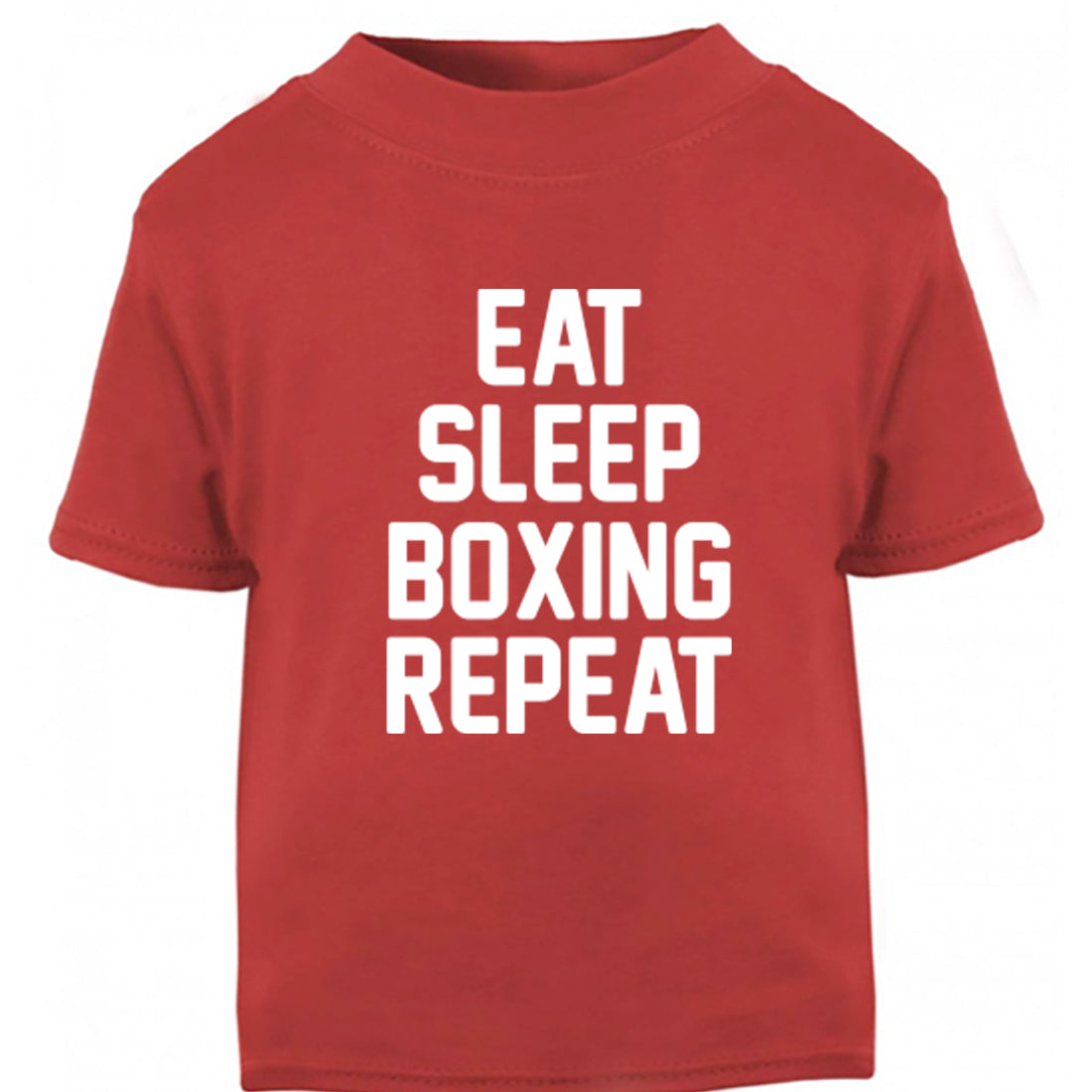 Eat Sleep Boxing Repeat Childrens Ages 3/4-12/14 Unisex Fit T-Shirt K0882 - Illustrated Identity Ltd.
