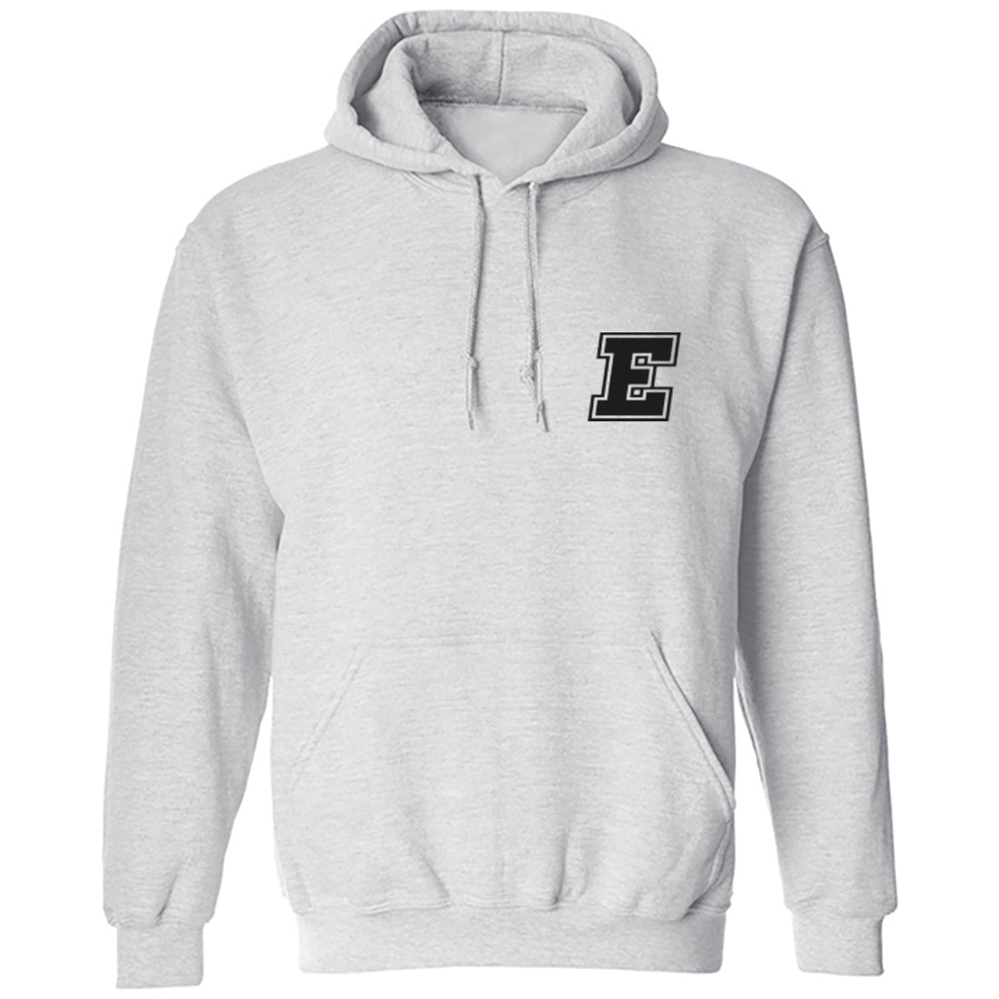 Initial 'E' Pocket Print Unisex Hoodie K0921 - Illustrated Identity Ltd.