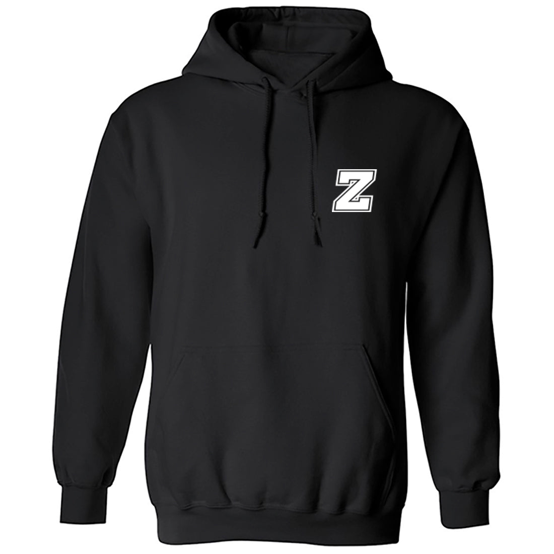 Initial 'Z' Pocket Print Unisex Hoodie K0942 - Illustrated Identity Ltd.