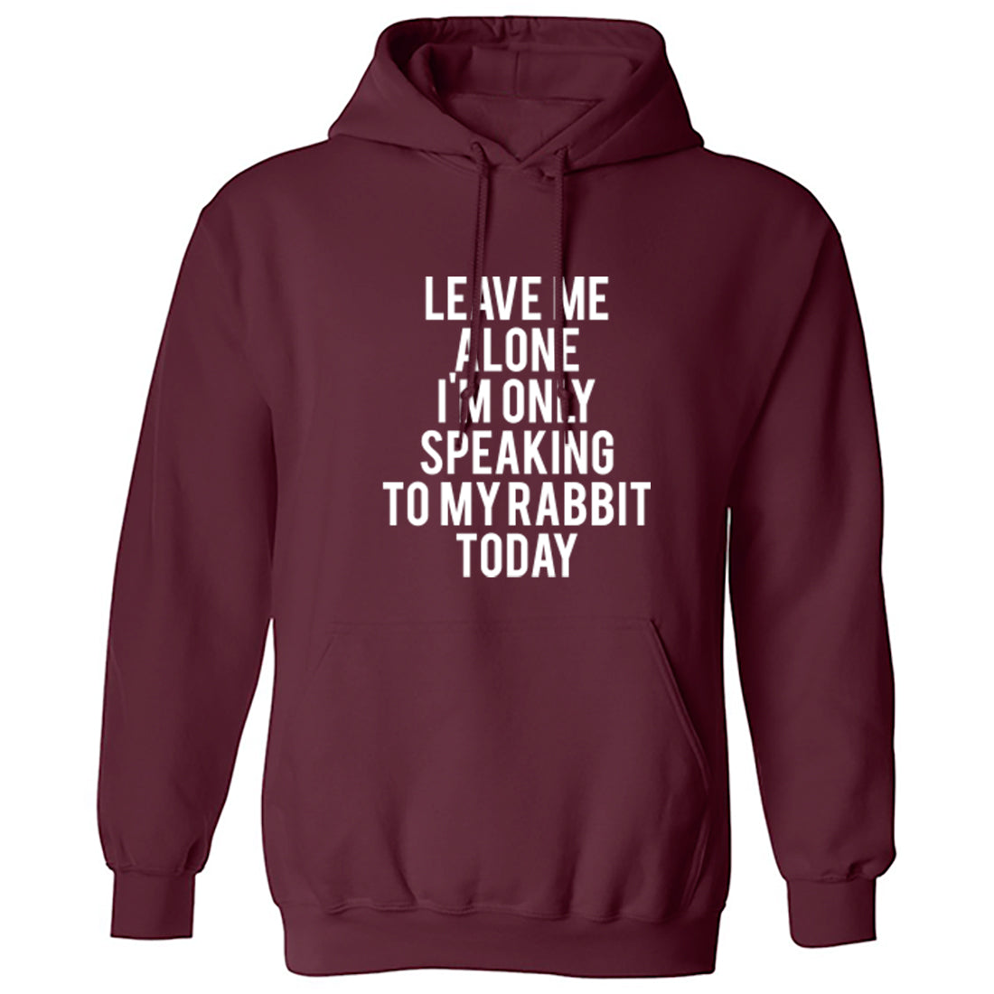 Leave Me Alone I'm Only Speaking To My Rabbit Today Unisex Hoodie K0946 - Illustrated Identity Ltd.