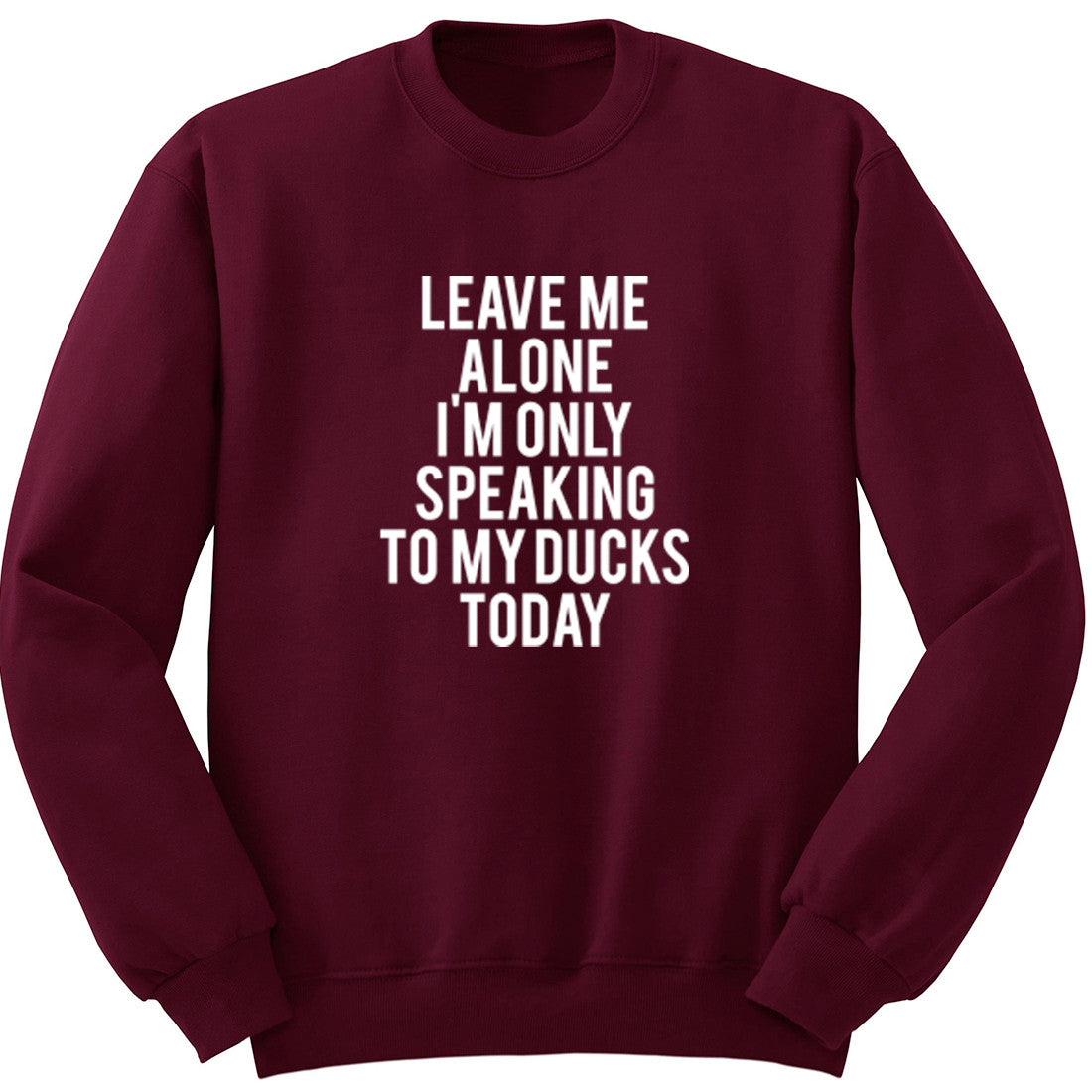 Leave Me Alone I'm Only Speaking To My Ducks Unisex Jumper K0950