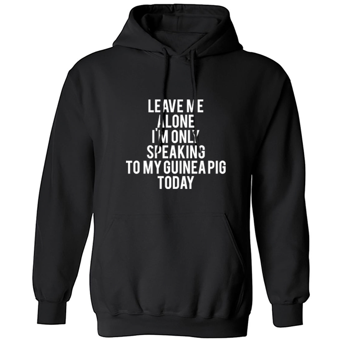 Leave Me Alone I'm Only Speaking To My Guinea Pig Today Unisex Hoodie K0956 - Illustrated Identity Ltd.