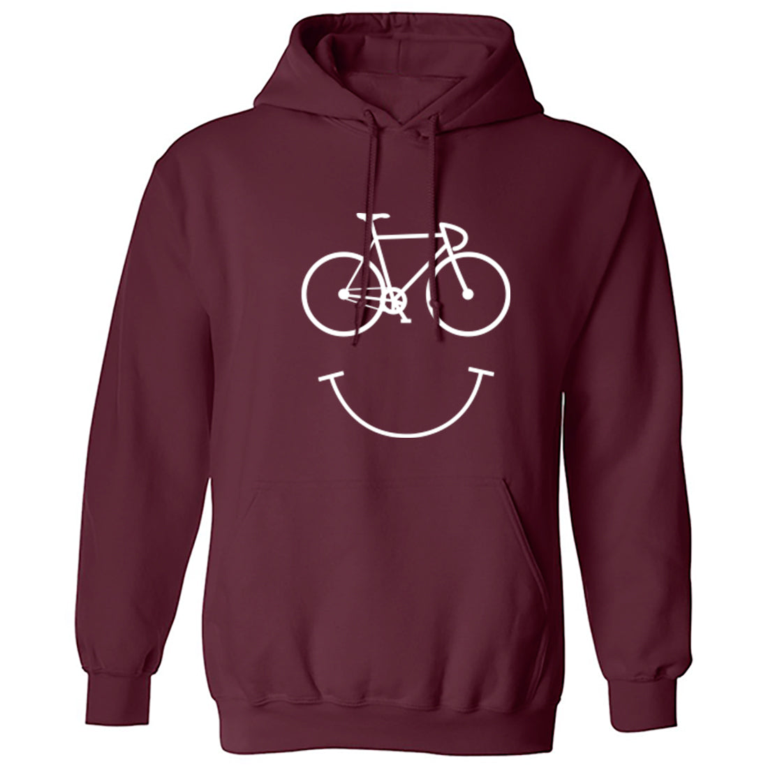 Cycle Smile Unisex Hoodie K0995 - Illustrated Identity Ltd.