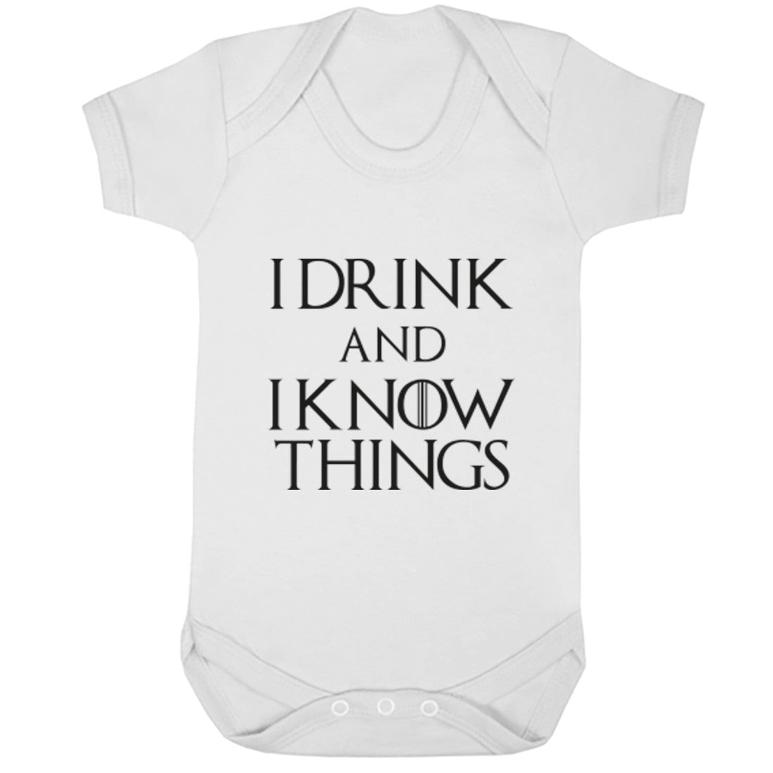 I Drink And I Know Things GOT Inspired Baby Vest K1076 - Illustrated Identity Ltd.