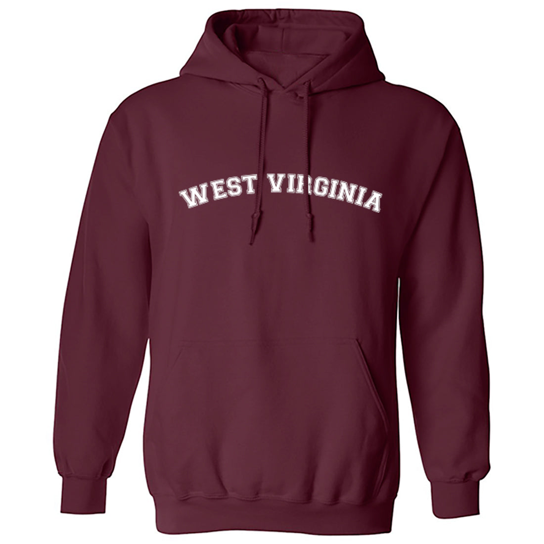 West Virginia American Type Unisex Hoodie K1120 - Illustrated Identity Ltd.