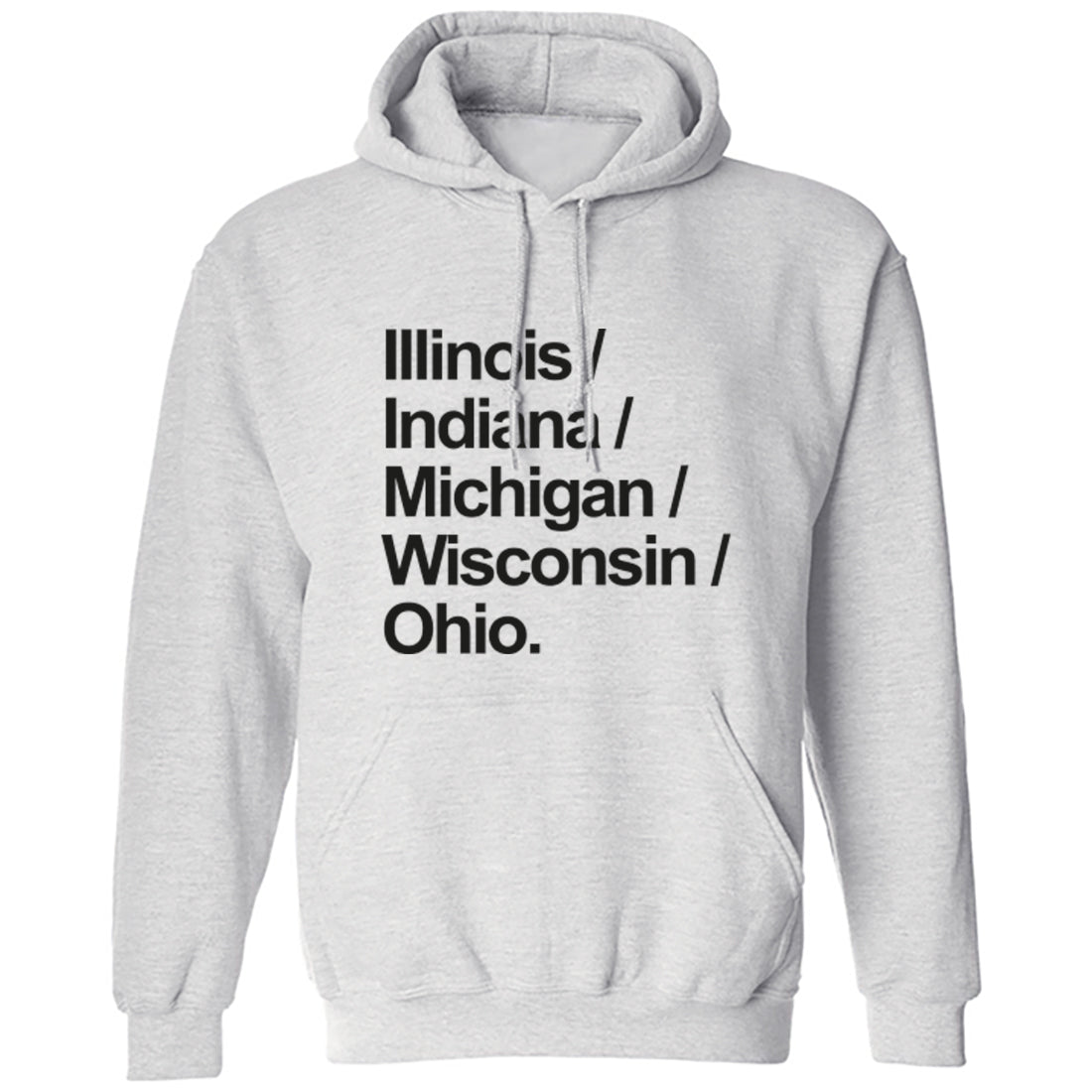 Mid West American States Division 3 Unisex Hoodie K1134 - Illustrated Identity Ltd.