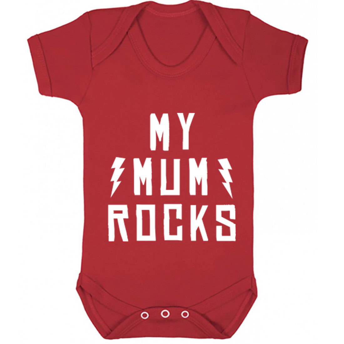 My Mum Rocks Baby Vest K1199 - Illustrated Identity Ltd.