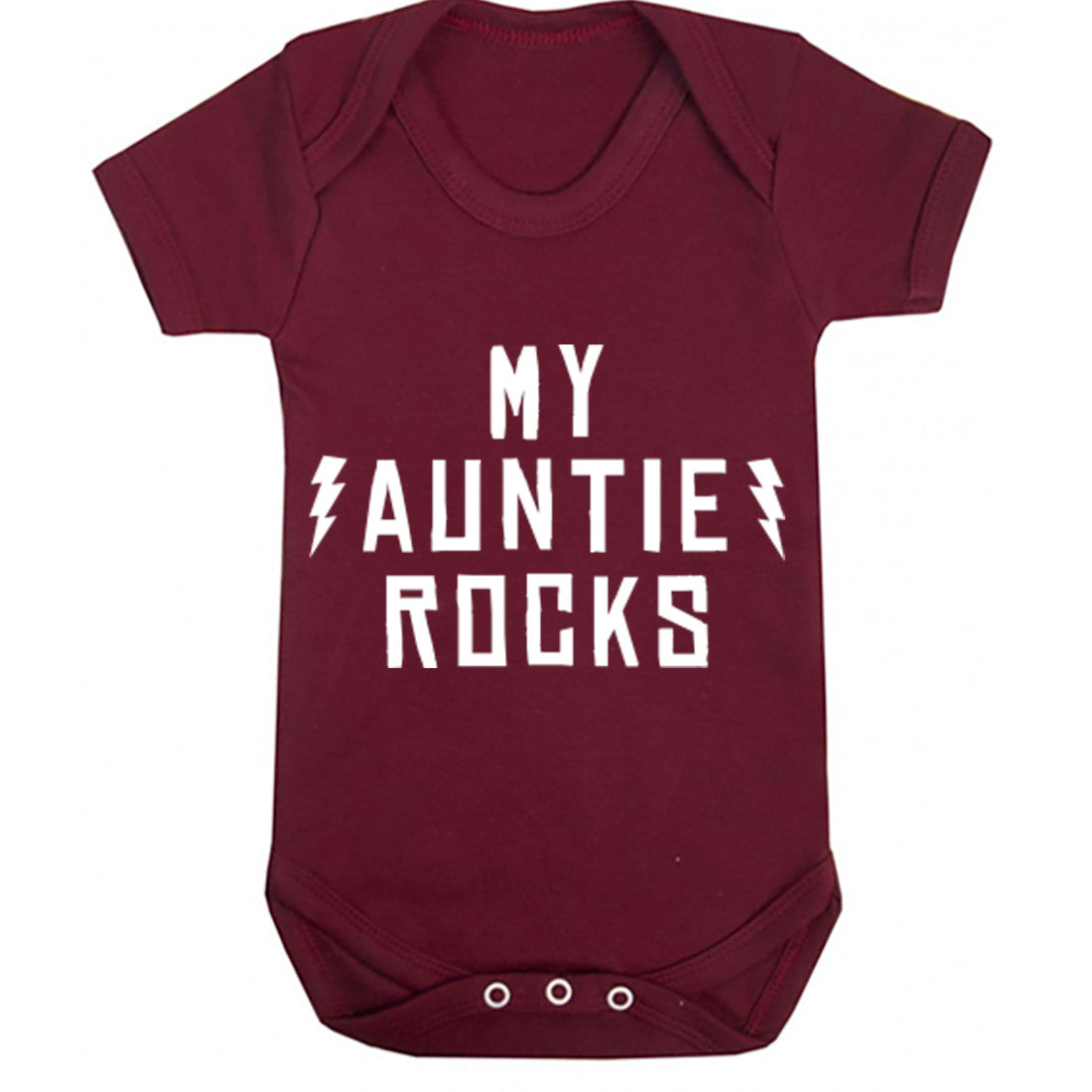 My Auntie Rocks Baby Vest K1202 - Illustrated Identity Ltd.