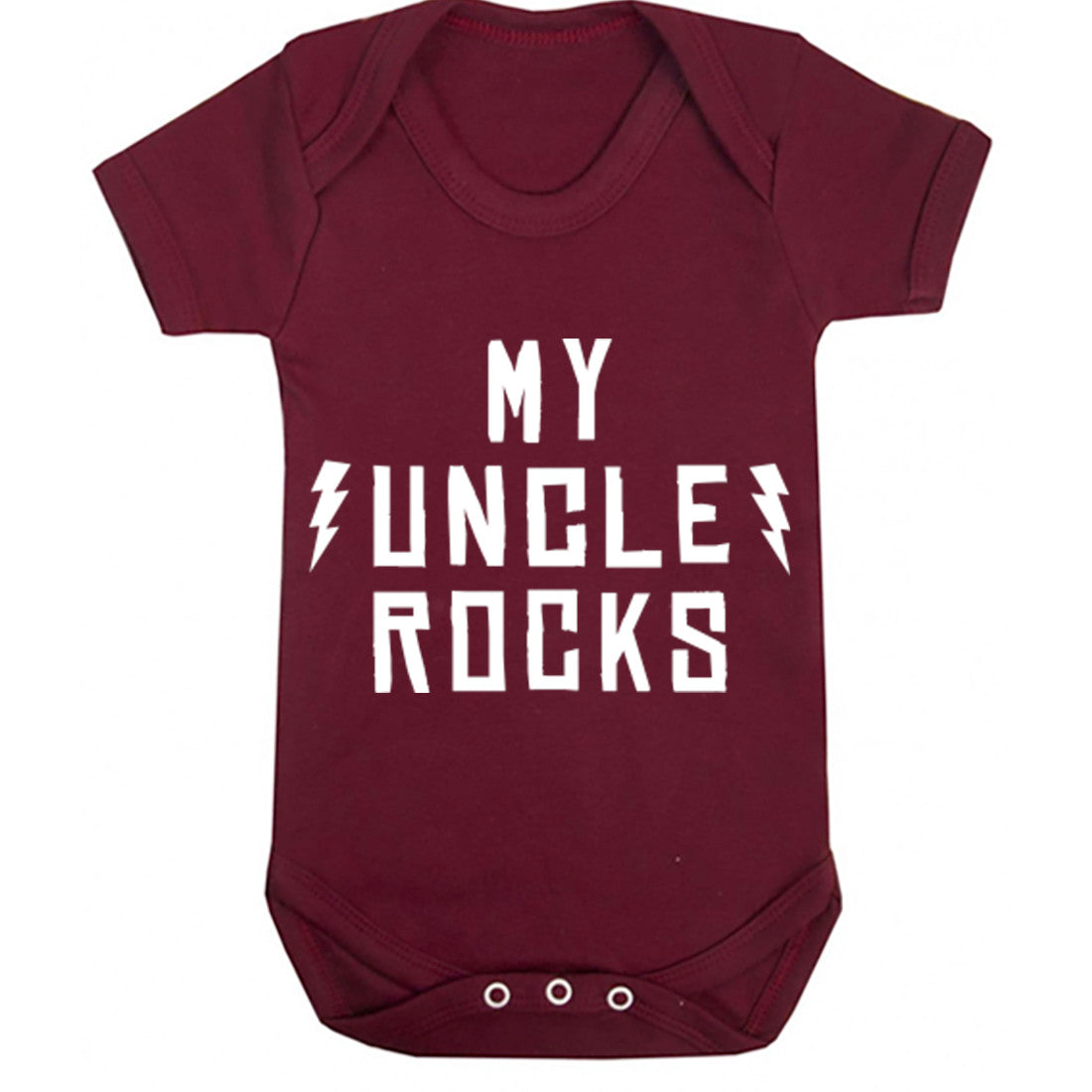 My Uncle Rocks Baby Vest K1203 - Illustrated Identity Ltd.