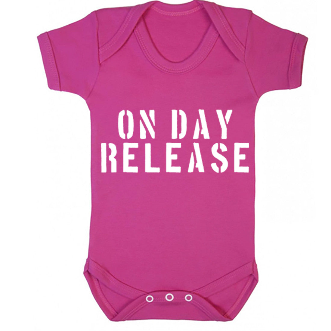 On Day Release Baby Vest K1213 - Illustrated Identity Ltd.
