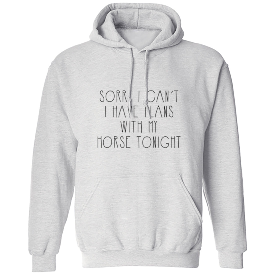 Sorry I Can't Tonight I Have Plans With My Horse Unisex Hoodie K1283 - Illustrated Identity Ltd.