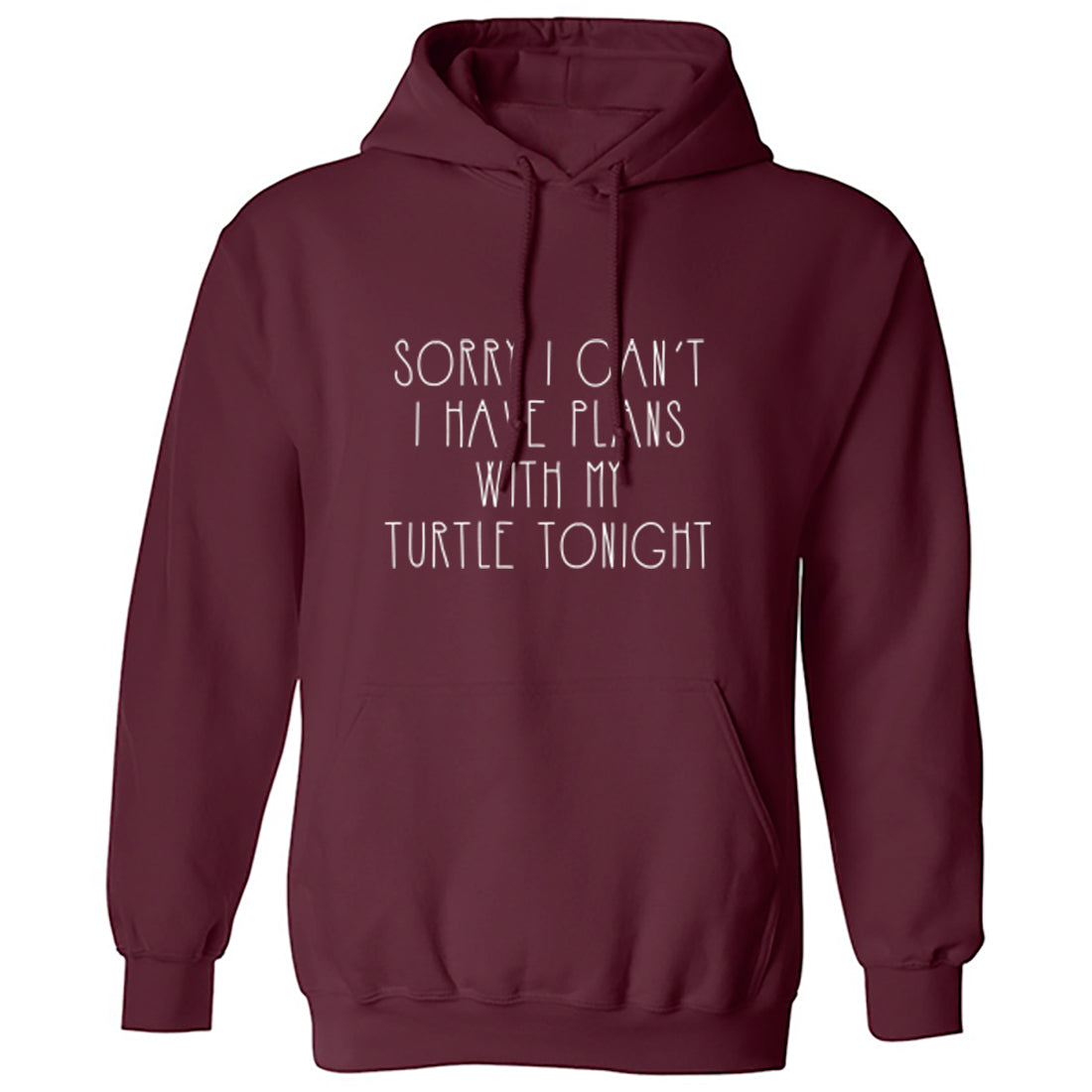 Sorry I Can't Tonight I Have Plans With My Turtle Unisex Hoodie K1287 - Illustrated Identity Ltd.