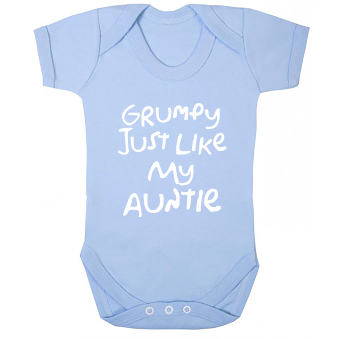 Grumpy Like My Auntie Baby Vest K1414 - Illustrated Identity Ltd.