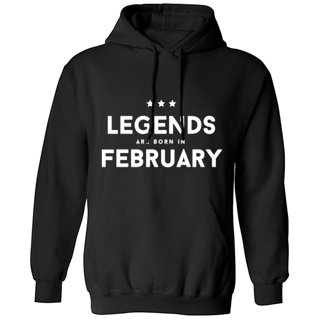 Legends Are Born In February Unisex Hoodie K1420 - Illustrated Identity Ltd.
