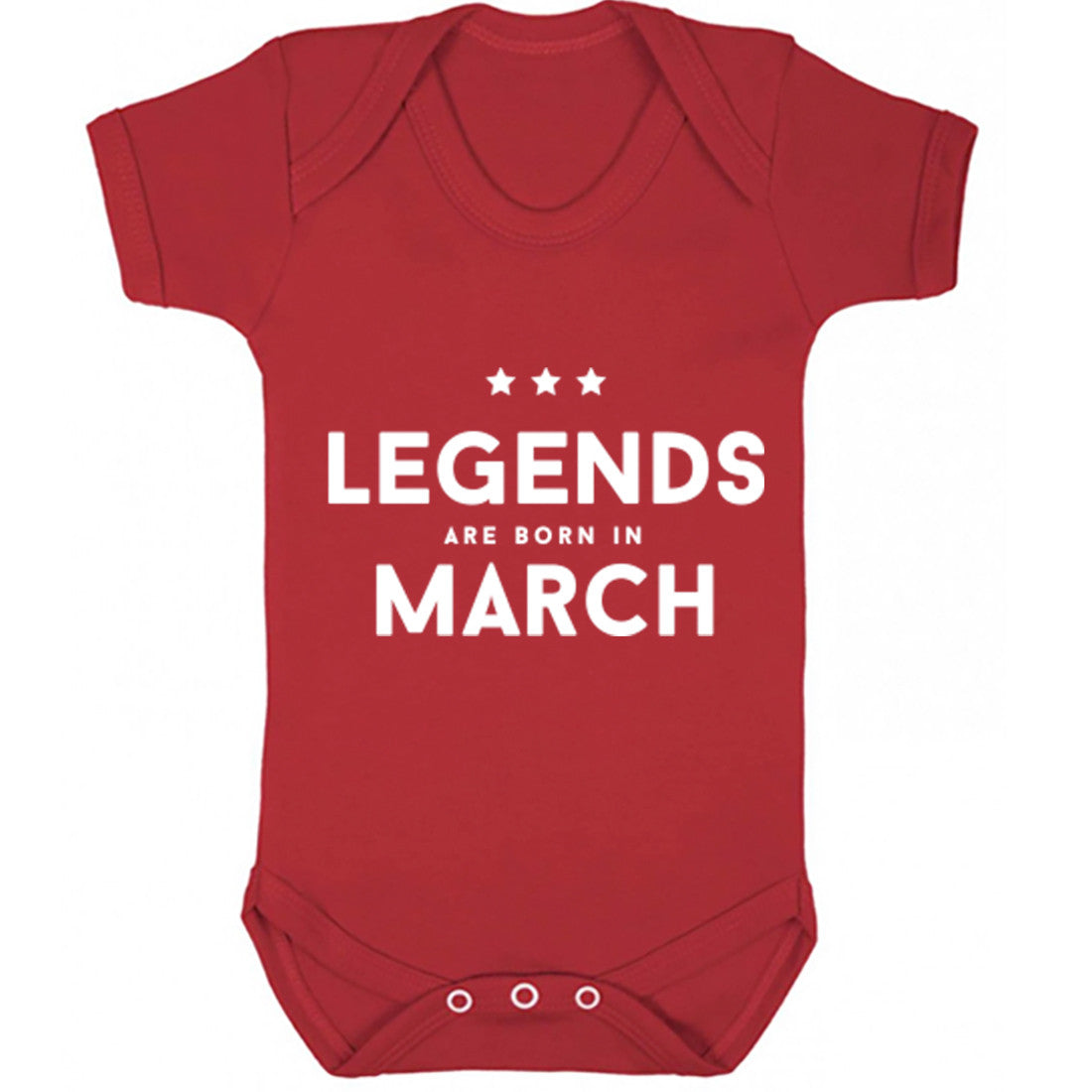 Legends Are Born In March Baby Vest K1421 - Illustrated Identity Ltd.