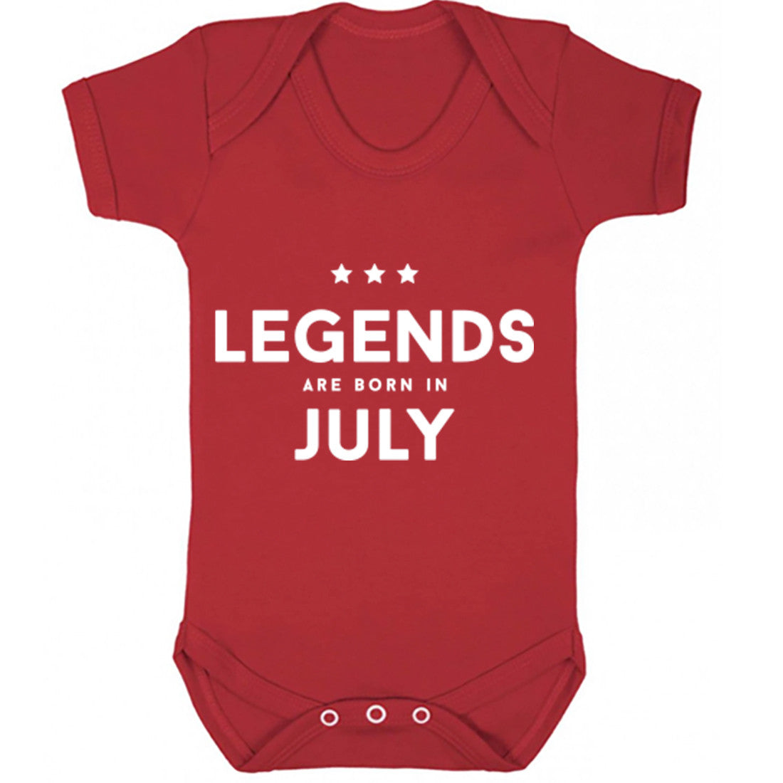 Legends Are Born In July Baby Vest K1425 - Illustrated Identity Ltd.