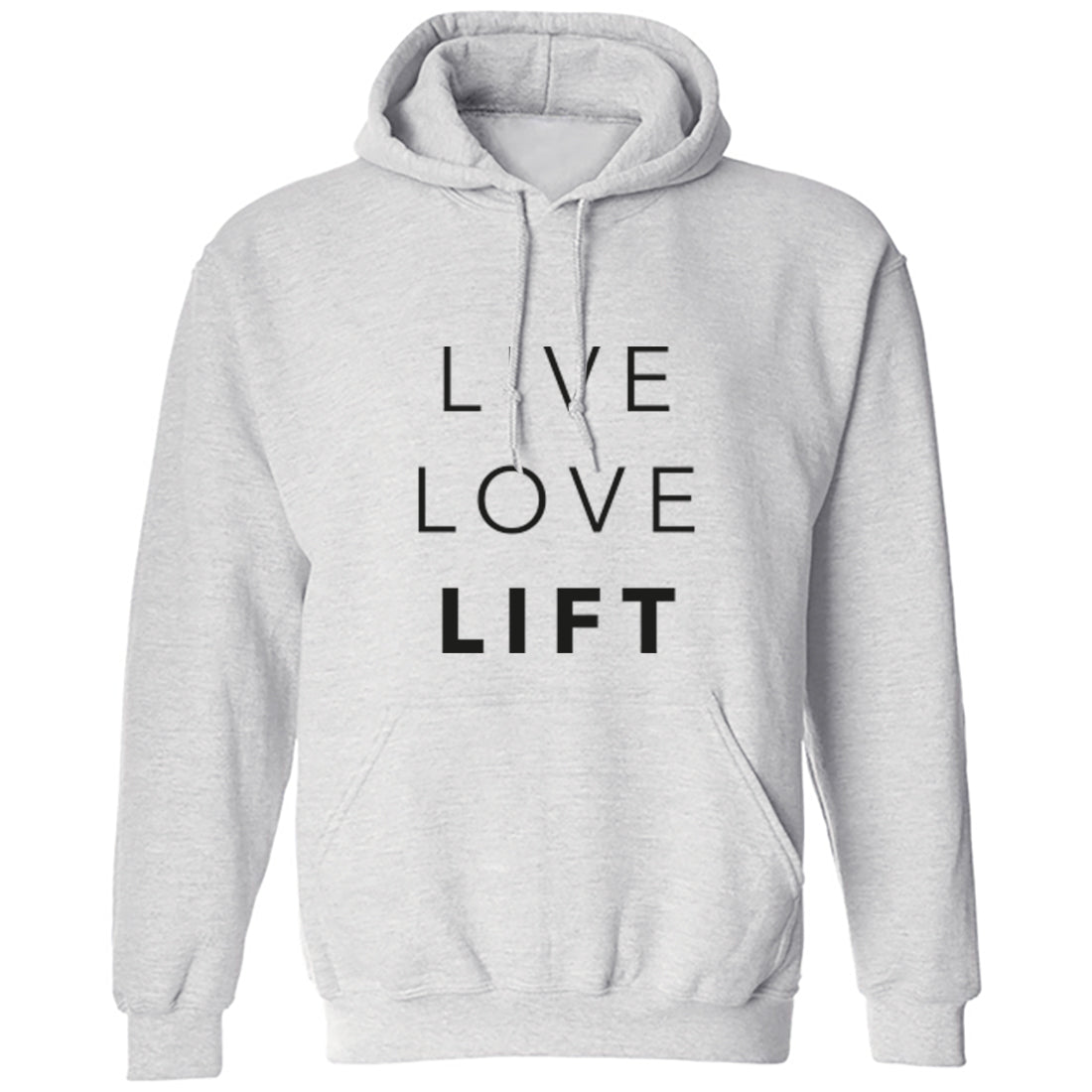 Live Love Lift Unisex Hoodie K1446 - Illustrated Identity Ltd.