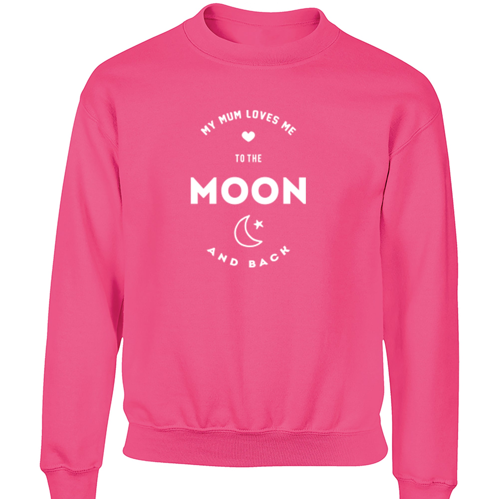 My Mum Loves Me To The Moon And Back Childrens Ages 3/4-12/14 Unisex Jumper K1539 - Illustrated Identity Ltd.