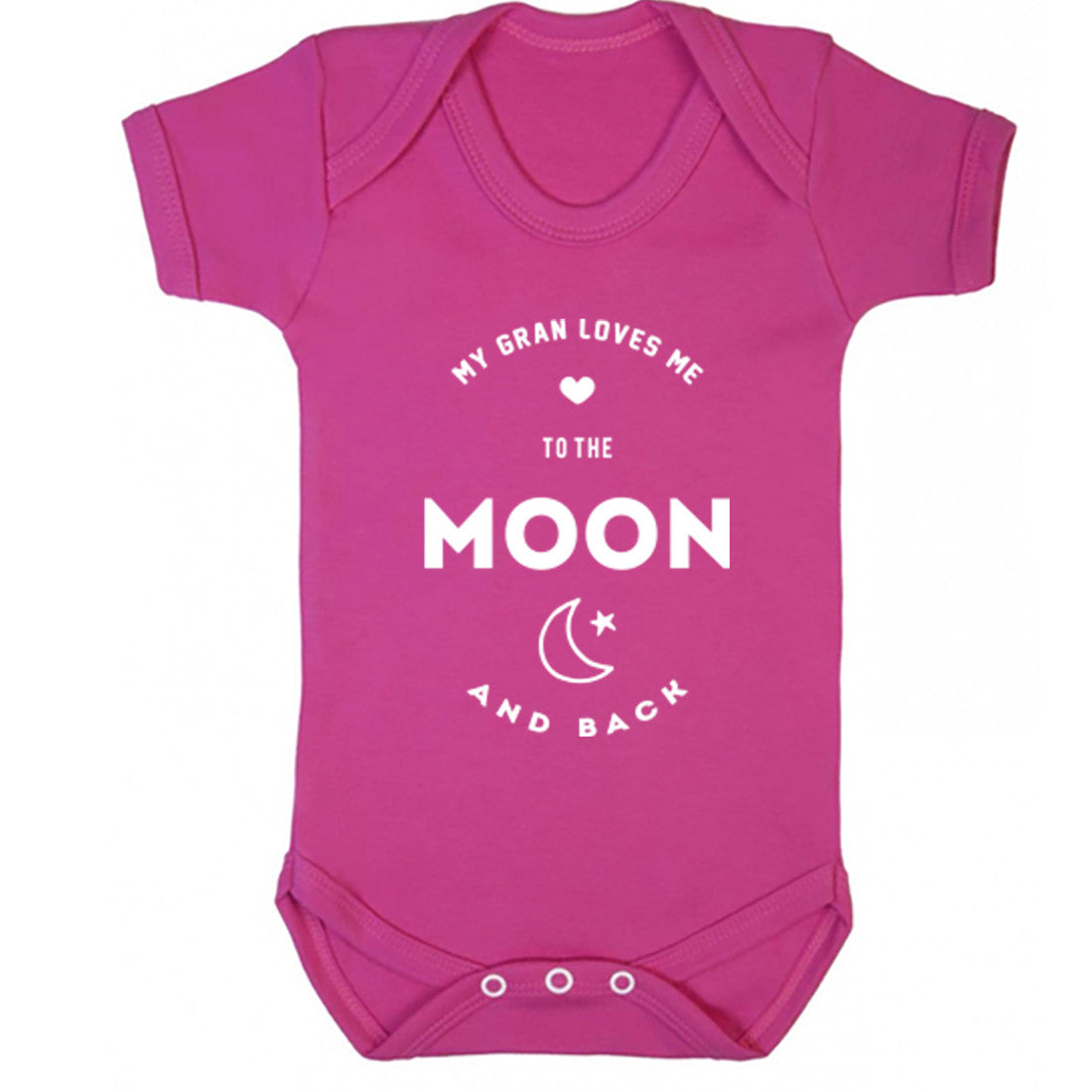 My Gran Loves Me To The Moon And Back Baby Vest K1542 - Illustrated Identity Ltd.