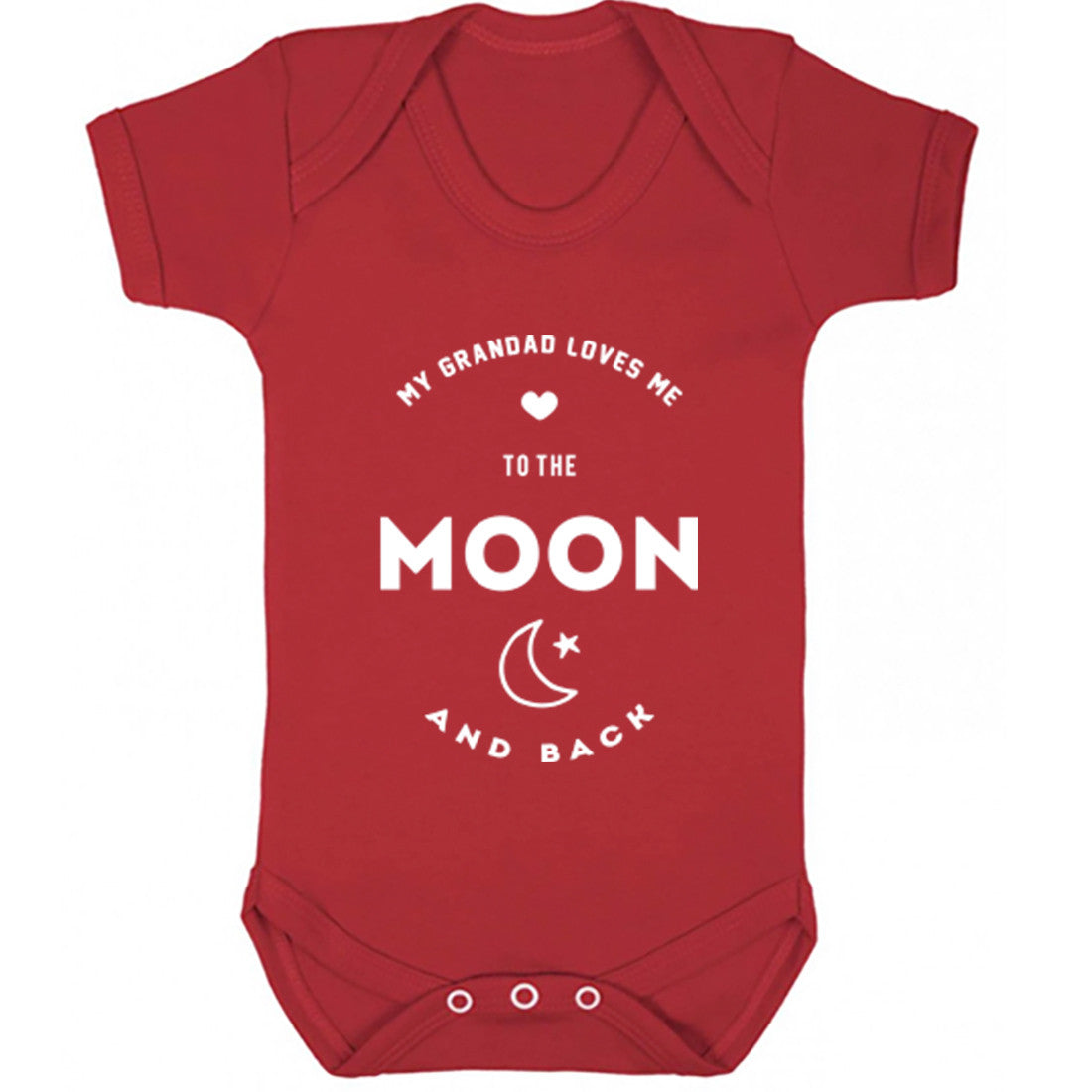 My Grandad Loves Me To The Moon And Back Baby Vest K1543 - Illustrated Identity Ltd.