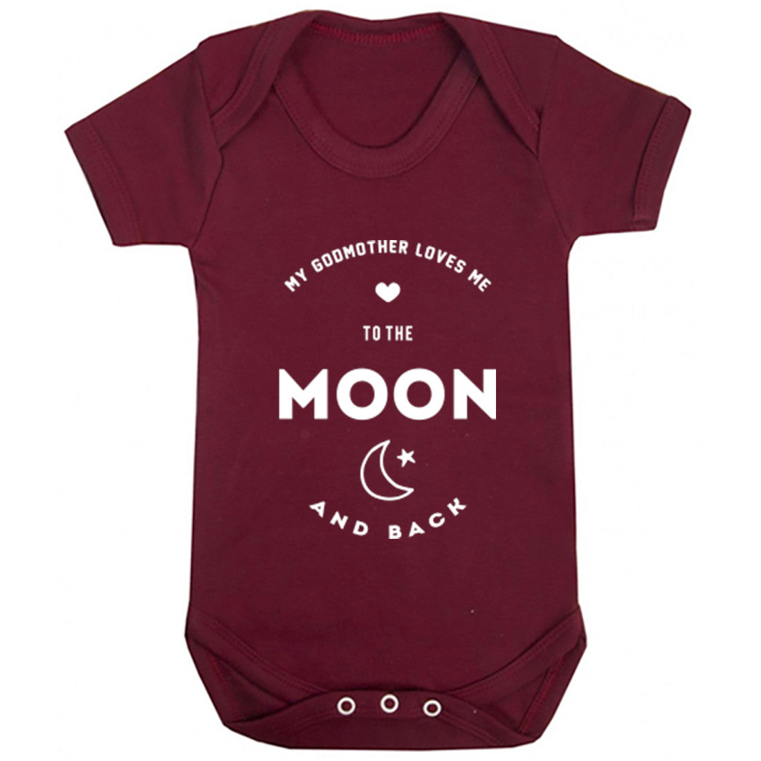 My Godmother Loves Me To The Moon And Back Baby Vest K1547 - Illustrated Identity Ltd.
